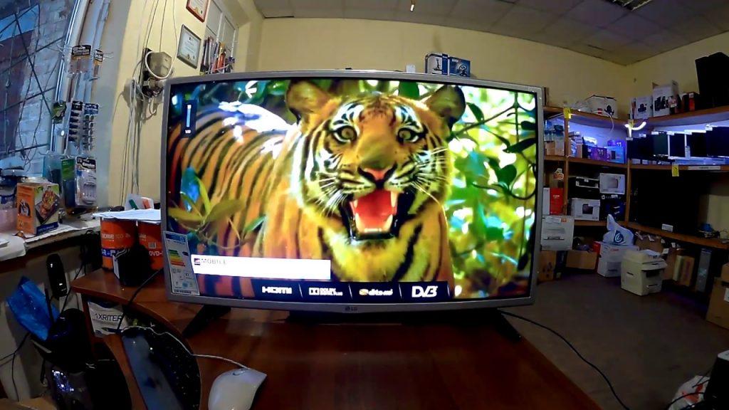 При желании, телевизор используется вместо монитора